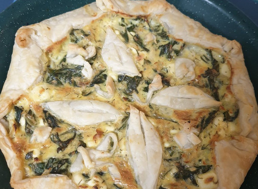 Free-form Cheese and Spinach Pie