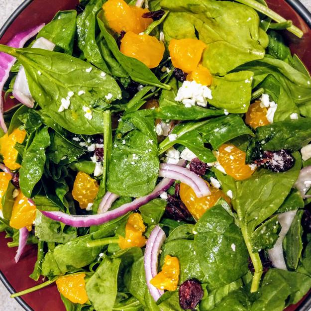 Wisconsin Spinach Salad