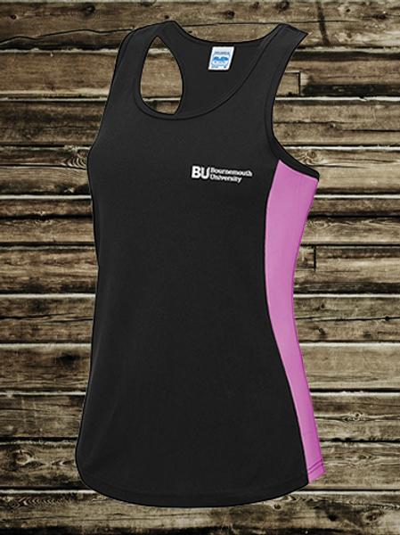Black & Pink Gym Vest
