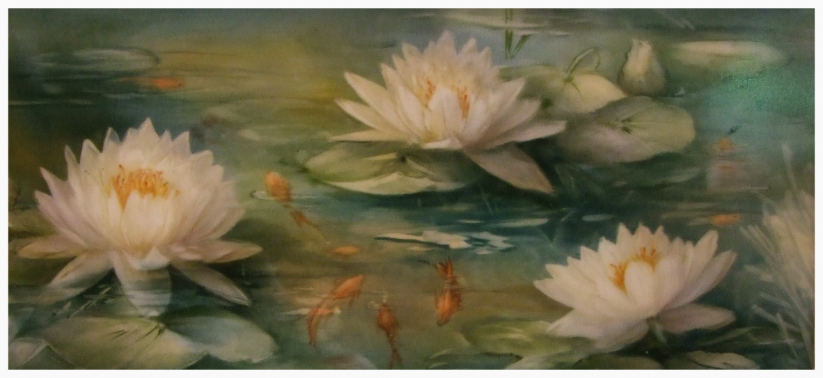 Water Lilies with Goldfish