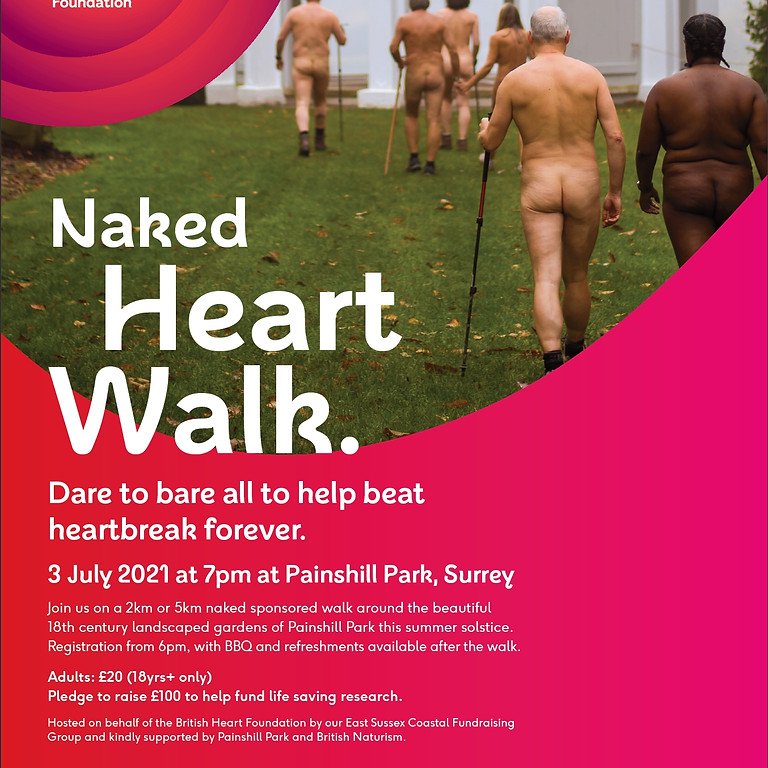 Naked Heart Walk in aid of the British Heart Foundation