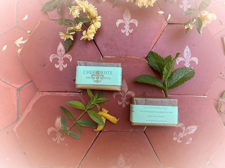 Spring green soap