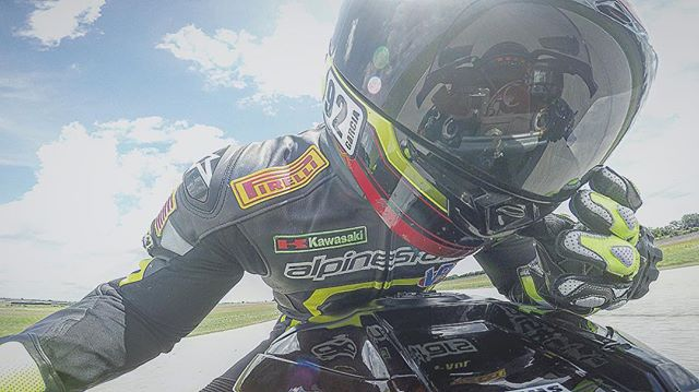 _gopro _pauldozz !  Awesome Salute for the Weekend!  #americanroadracers #cota