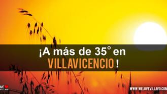La temperatura seguirá subiendo en Villavicencio.