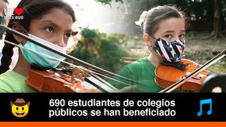 Por primera vez estudiantes de Villavicencio reciben formación musical sinfónica