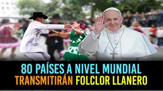 Baile tradicional para despedir al Papa