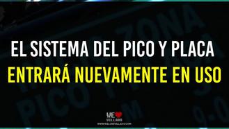 Se reanuda pico y placa en Villavicencio este martes 12 de enero.