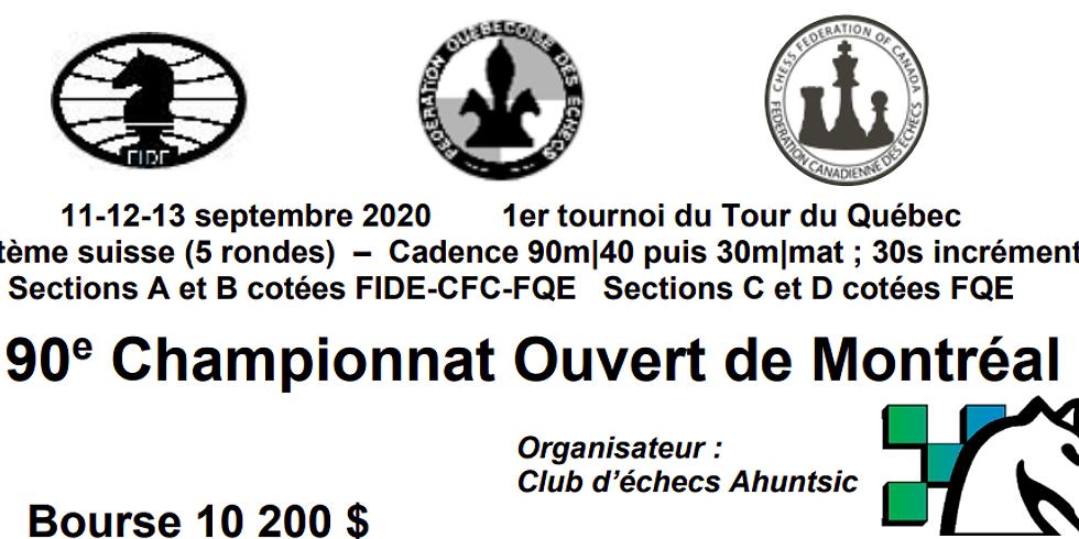 90ème Championnat Ouvert de Montreal (CHOM) - 2020