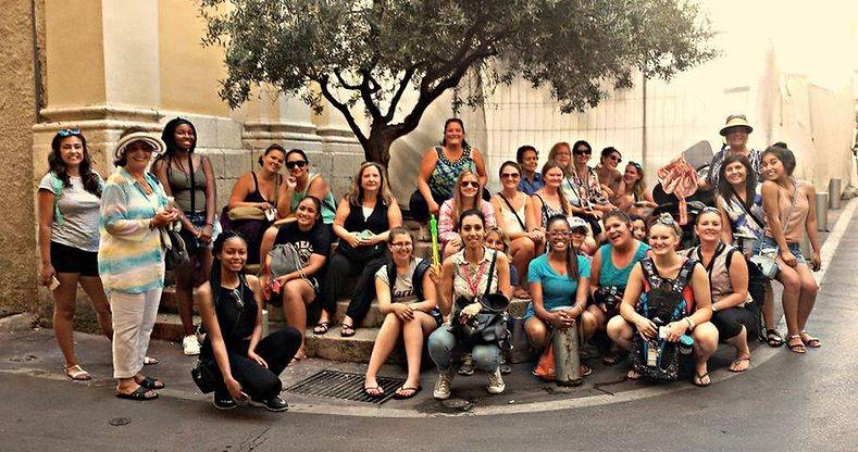 Group photo during walking tour of Nice
