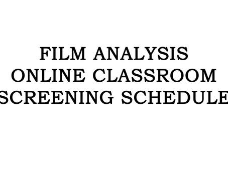 ONLINE CLASS ROOM - FILM ANALYSIS