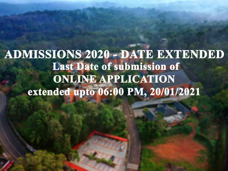 ADMISSIONS 2020 - DATE EXTENDED