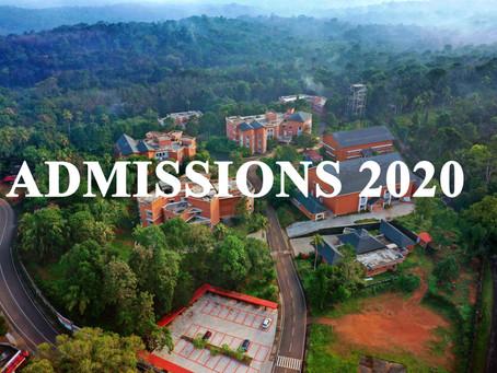 ADMISSIONS 2020