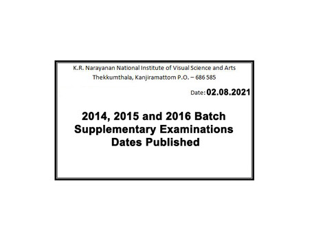 2014, 2015 and 2016 Batch Supplementary Examinations Dates Published