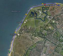 71 route in Den Helder naar finish