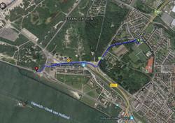 6 route van HVC'10 naar de start