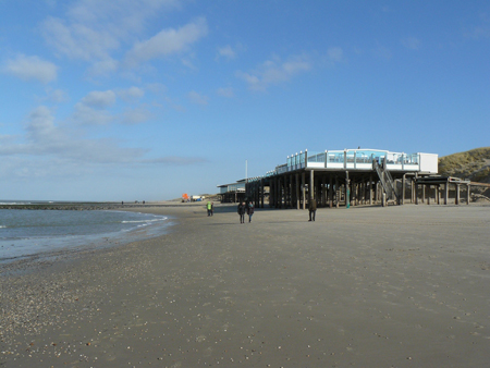 65 paviljoens strandslag Kiefteglop bij Callantsoog zuid