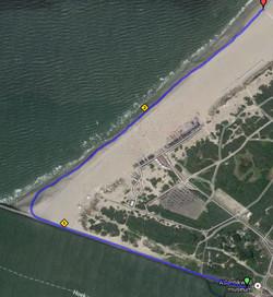 9 start op de boulevard richting Noorderhoofd en strand HvH