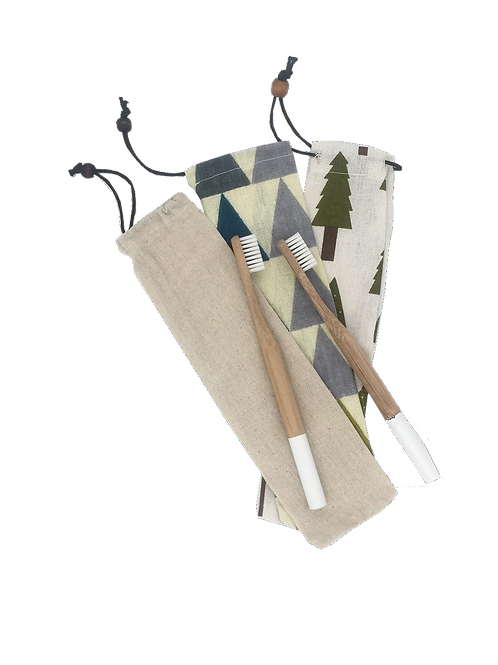 Bamboo Toothbrush + Bag