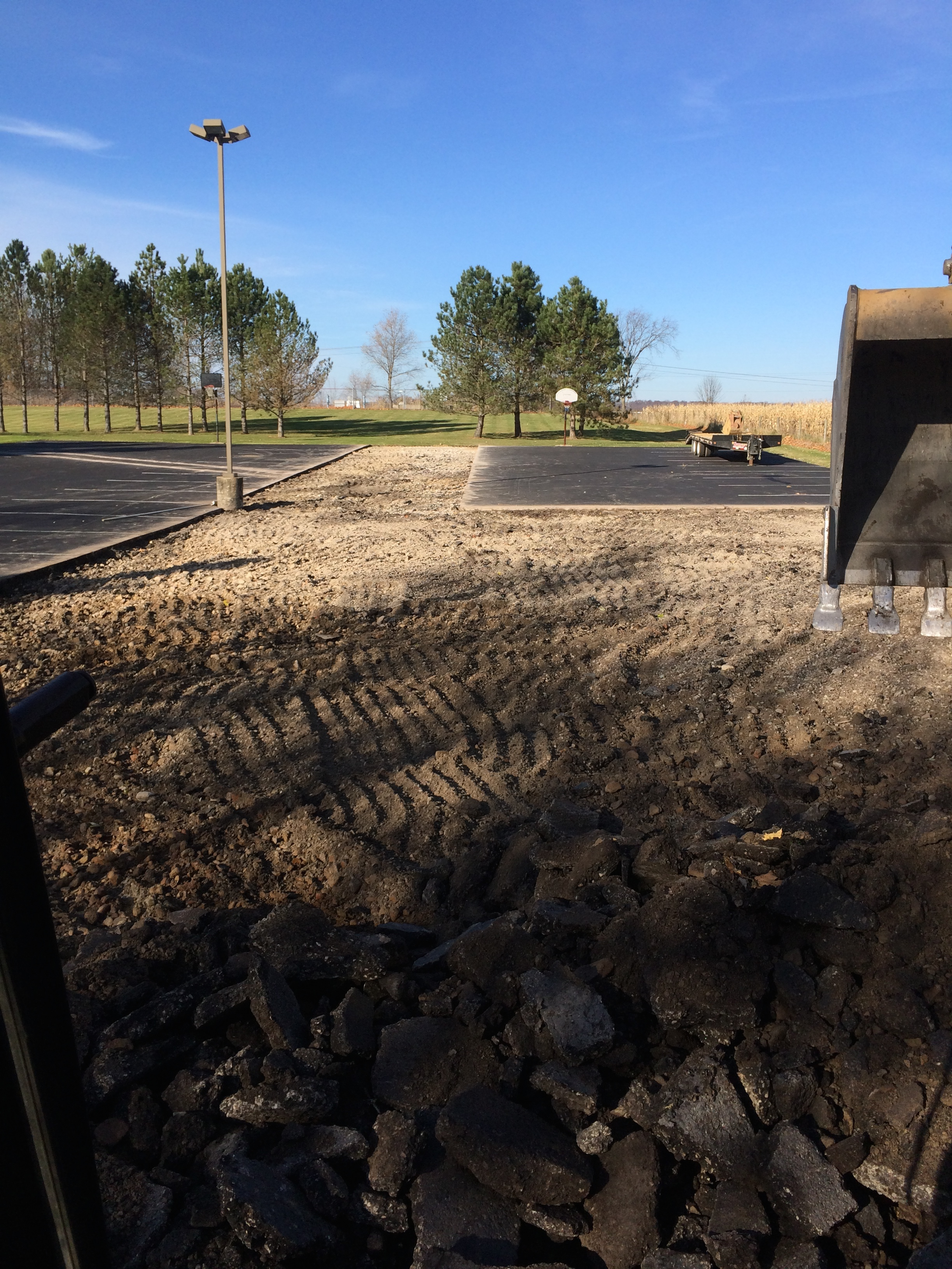 Asphalt Excavation - Parking Lot