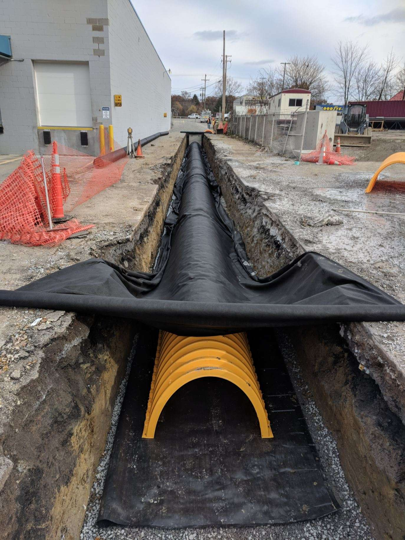 Commercial Storm Drainage System