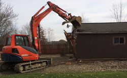 Demolition of Barn House, Medina OH