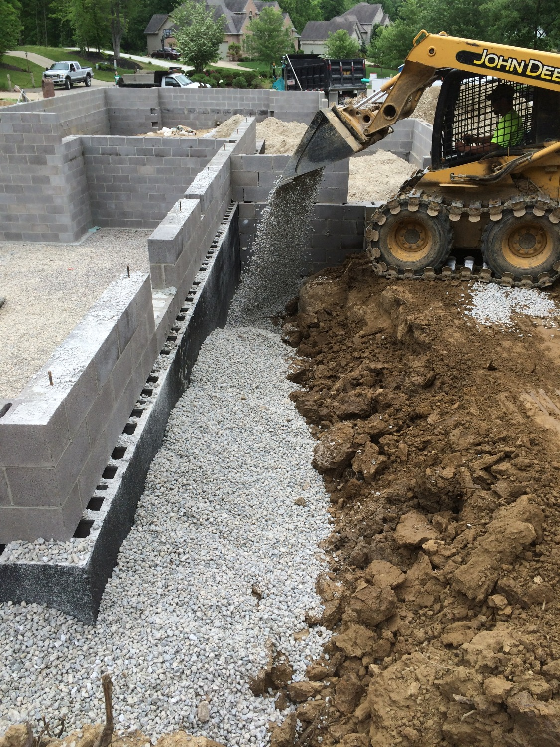New foundation and backfill, Medina