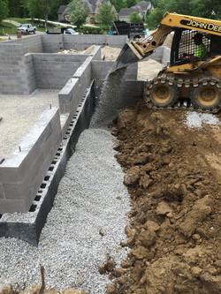 New foundation and backfill, Medina