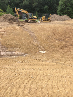 Pond Excavation In Process