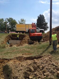 Sewer Line Install, New Development