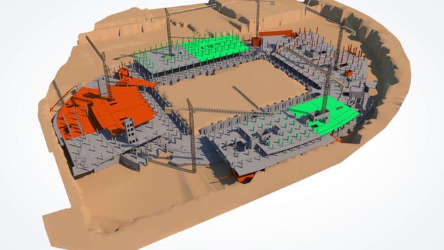 4D, Navisworks, Stadium, Construction Simulation, BIM, VP, Virtual Projects, Qatar Foundation Stadium, QFS, Educational City Stadium, ECS