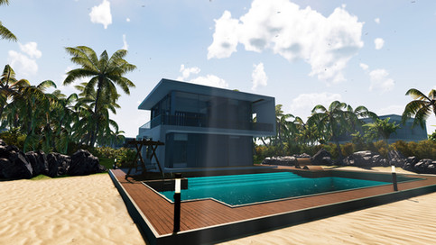 VR, Virtual Reality, Revit, Unity, Real Estate, Visualization, landscape, Villa