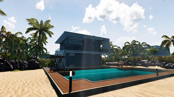 VR, Virtual Reality, Revit, Unity, Real Estate, Visualization, landscape, Villa