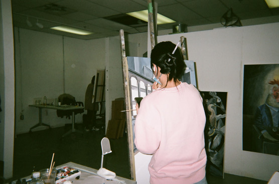 Mika in her studio