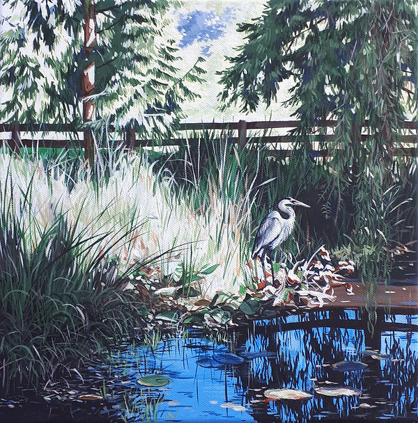 Sheila Van Delft_We Saw a Heron by the P