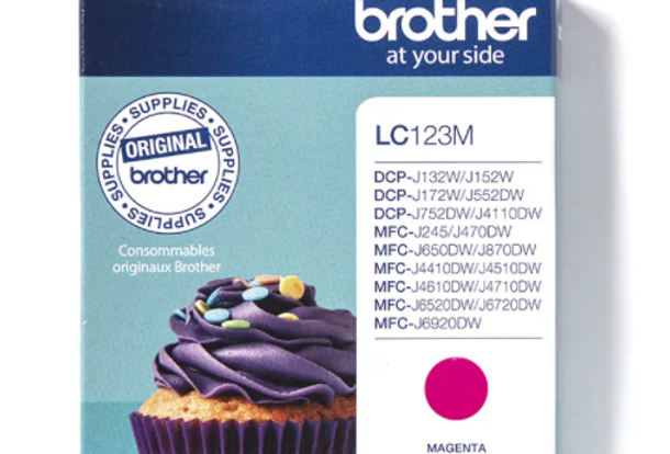 Cartouche d'encre - Brother LC123M - Magenta