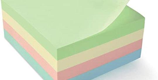 Bloc notes repositionnables (76x76mm) - 450 Feuilles - Divers coloris