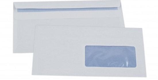 Enveloppes blanches à fenêtre (110x220mm) - Paquet de 50
