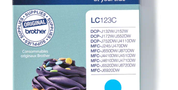 Cartouche d'encre - Brother LC123C - Cyan