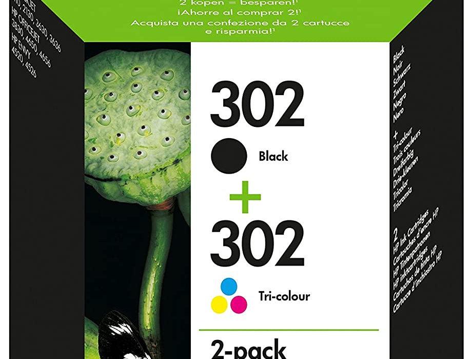 Cartouche d'encre - HP 302 lot de 2 - Couleur et noir