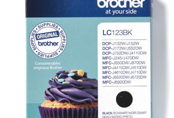 Cartouche d'encre - Brother LC123BK - Noir