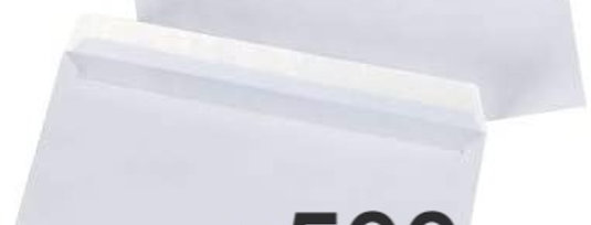 Enveloppes blanches sans fenêtre (110x220mm) - Boîte de 500