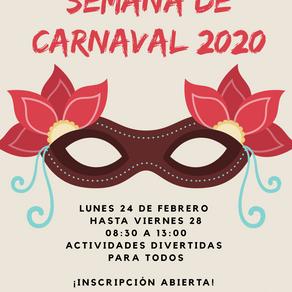 SEMANA DE CARNAVAL 2020