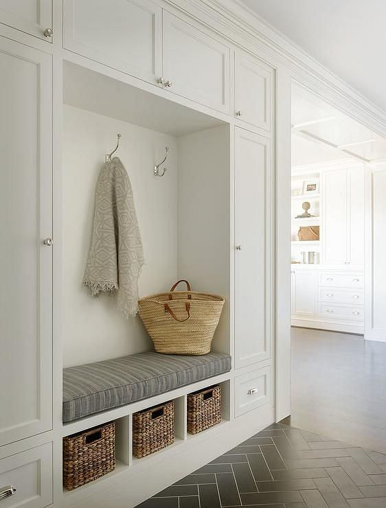 Mudroom And Hallway Organization