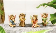 These tiny fairies have been collecting gemstones in their gardens