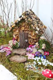 Large natural looking fairy house