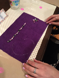 Laying out the bracelet is so much fun