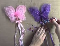 Butterfly wands can never have too much bling