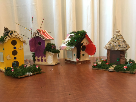 Four large houses just waiting for their fairies to come home....