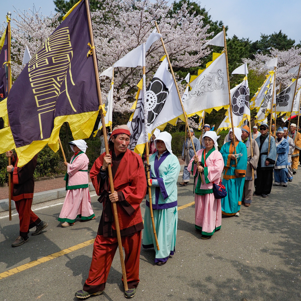 FLAG BEARERS IN TRADITIONAL CLOTHING