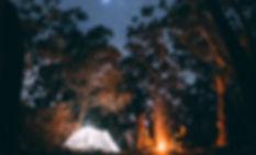 森の中でのキャンプ